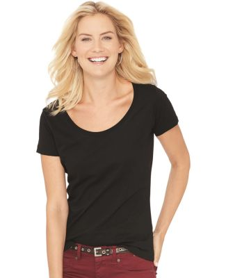 3504 LA T Ladies' Fine Jersey Deep Scoop Neck Longer Length T-Shirt  Catalog