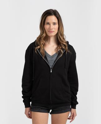 0331 Tultex 80/20 Unisex Zipper Hood  Black
