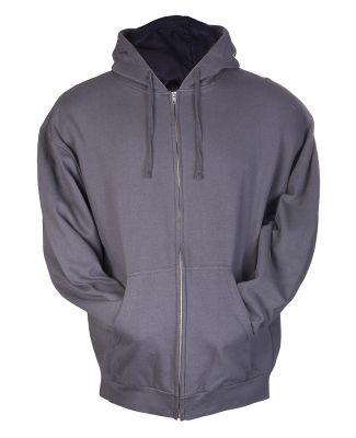 0331 Tultex 80/20 Unisex Zipper Hood  Charcoal