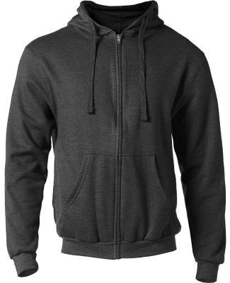 0331 Tultex 80/20 Unisex Zipper Hood  Heather Charcoal