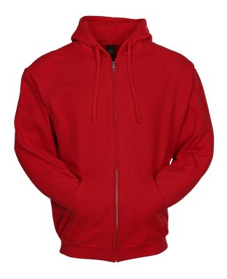 0331 Tultex 80/20 Unisex Zipper Hood  Red