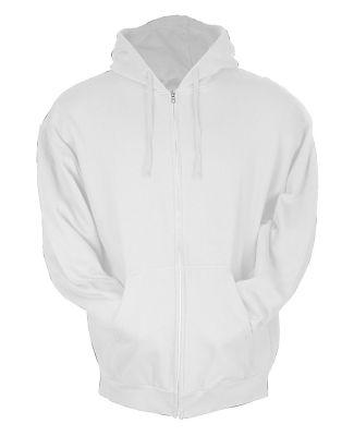 0331 Tultex 80/20 Unisex Zipper Hood  White