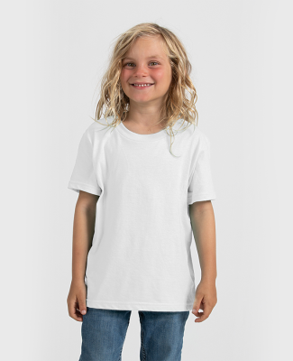0235TC Tultex Youth Fine Jersey Tee White