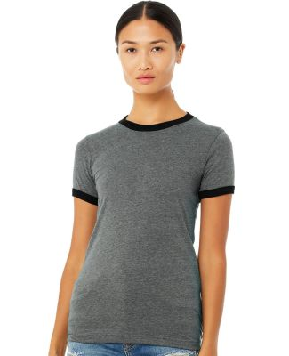BELLA 6050 Womens Vintage Heather Ringer Tee Catalog