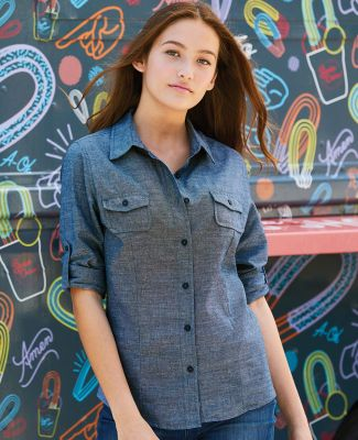 B5255 Burnside - Ladies' Long Sleeve Chambray Catalog