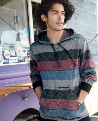 B8603 Burnside - Printed Striped Fleece Sweatshirt Catalog