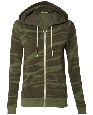 Alternative Apparel 9573 Ladies Eco Fleece Hoodie CAMO