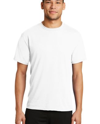 PC381 Performance Tee Blended Cotton Polyester by  White