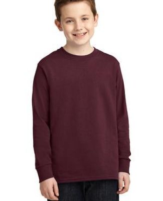 PC54YLS Port and Company Youth Long Sleeve Cotton Blank T Shirt Catalog