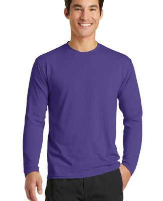 PC381LS Blended long sleeve performance tee shirt  Purple