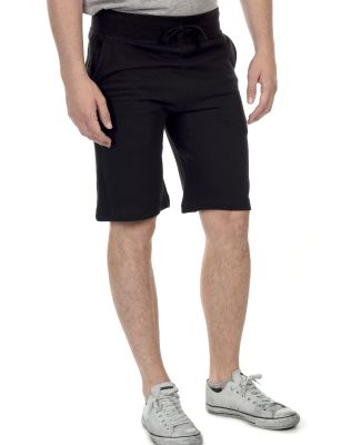 M7640 Cotton Heritage Fleece Rib Jogger Shorts Black