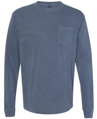 4410 Comfort Colors - Long Sleeve Pocket T-Shirt DENIM