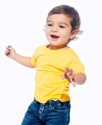 IC1040 Cotton Heritage 4.3oz Infant Crew Neck T-sh Yellow