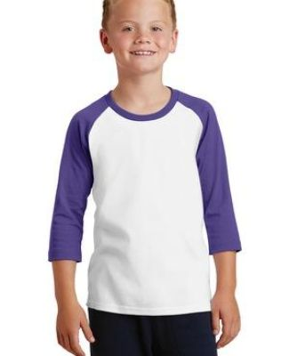 PC55YRS Port & Company® Youth 50/50 3/4-Sleeve Raglan Catalog