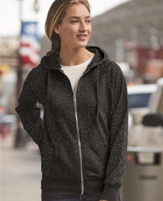 8868 J. America Women's Glitter Hooded Full-Zip Sweatshirt Catalog