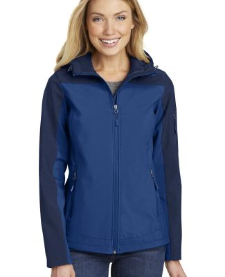 L335 Port Authority Ladies Hooded Core Soft Shell  NtSky Bl/DB Ny