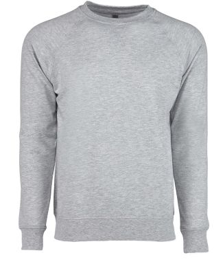 Next Level N9000 Unisex Terry Raglan Pullover HEATHER GRAY
