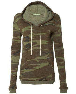 Alternative Apparel 9596 Womens Eco-Fleece Pullove Camo