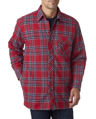 BP7002 Backpacker Men's Flannel Shirt Jacket with  BLUE STUART
