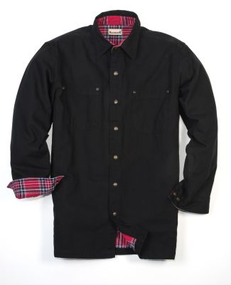 BP7006 Backpacker Men's Canvas Shirt Jacket w/ Fla BLACK