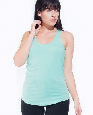 Cotton Heritage LC7706 Juniors Scallop Racerback T Mint
