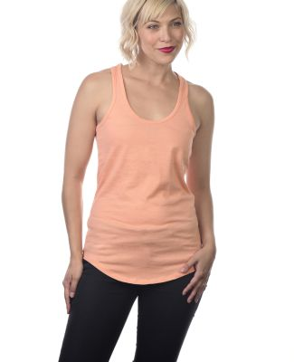 Cotton Heritage LC7706 Juniors Scallop Racerback T Peach