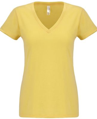 Next Level 6480 Women's Sueded Short Sleeve V BANANA CREAM