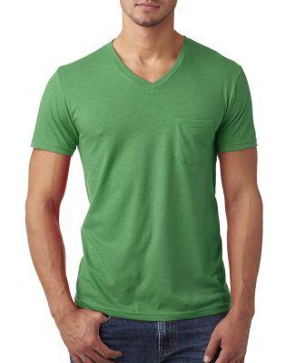 Next Level 6245 Men's CVC Tee with Pocket KELLY GREEN