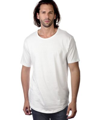 MC1050 Cotton Heritage Drop Tail Crew Neck T-shirt White