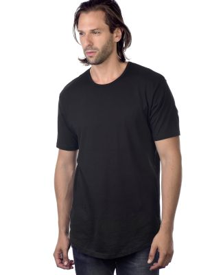 MC1050 Cotton Heritage Drop Tail Crew Neck T-shirt Black