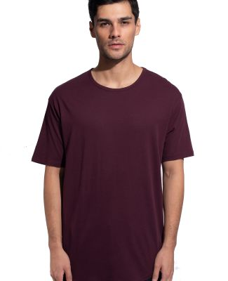 MC1050 Cotton Heritage Drop Tail Crew Neck T-shirt Wine