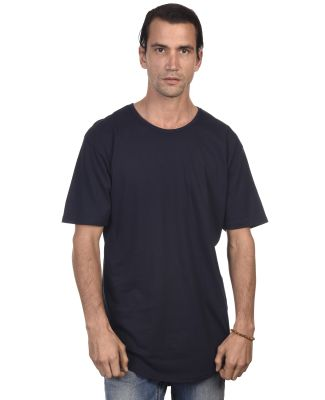 MC1050 Cotton Heritage Drop Tail Crew Neck T-shirt Navy