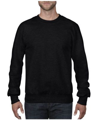 72000 Anvil Adult Crewneck French Terry Black