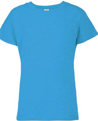 1300N Delta Apparel Girls 30/1's Tee Turquoise