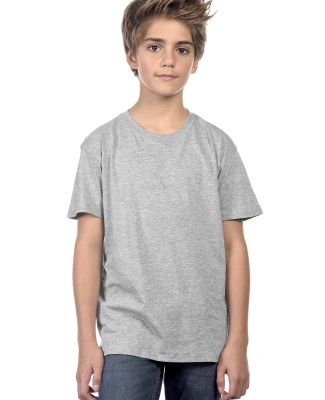 YC1040 Cotton Heritage Youth Cotton Crew T-Shirt Athletic Heather