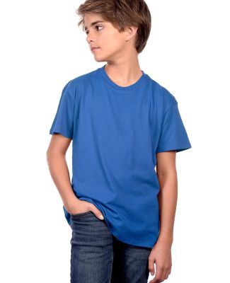 YC1040 Cotton Heritage Youth Cotton Crew T-Shirt Royal
