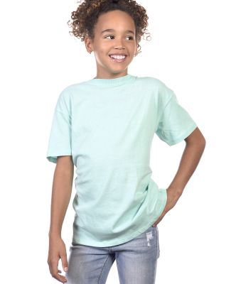 YC1040 Cotton Heritage Youth Cotton Crew T-Shirt Mint