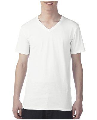 352 Anvil 3.2 oz. Featherweight Short-Sleeve V-Nec White