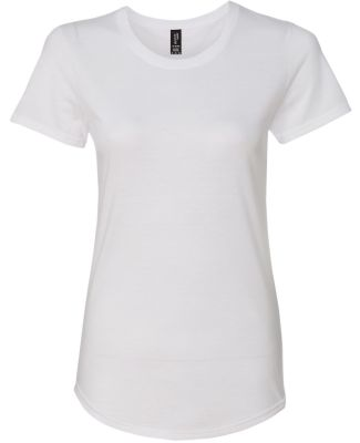 6750L Anvil Ladies' Triblend Scoop Neck T-Shirt White