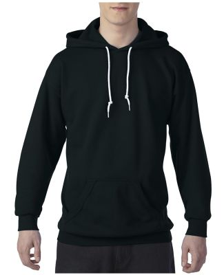 71500 Anvil 7.2 oz. Fleece Pullover Hood Black