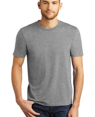 DM130 District Made Mens Perfect Tri-Blend Crew Te Grey Frost