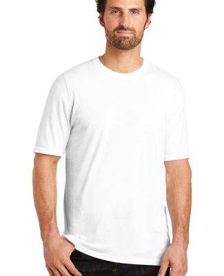 DM130 District Made Mens Perfect Tri-Blend Crew Te White