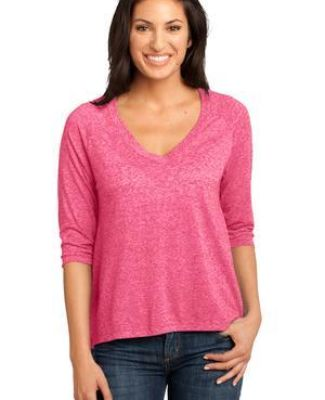 DM462 District Made Ladies Microburn V-Neck Raglan Tee Catalog