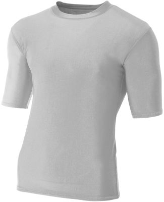 N3283 A4 Adult Compression Tee Silver