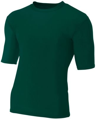 N3283 A4 Adult Compression Tee Forest