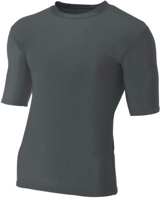 N3283 A4 Adult Compression Tee Graphite