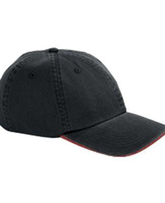 Big Accessories BWTS Sandwich Bill Dad Hat BLACK/ RED