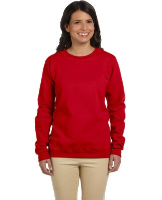 Gildan G180FL Heavy Blend Womens 50/50 Fleece Crew CHERRY RED