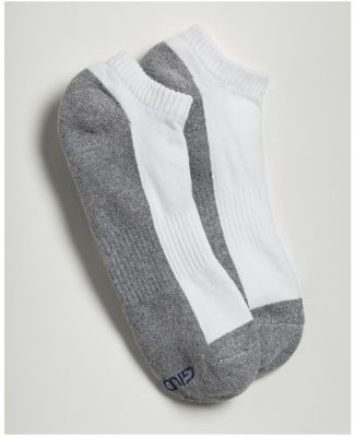 Gildan GP711 Platinum No Show Socks (Black) WHITE