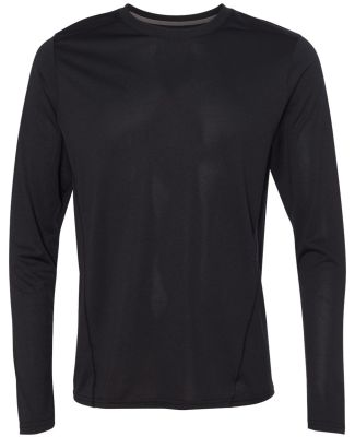 Gildan G474 Adult Tech Long Sleeve T-Shirt BLACK